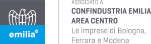 Logo ASSOCIATO a Confindustria Emilia Area Centro GRIGIO-CYAN